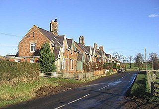 Howtel village in Northumberland, England