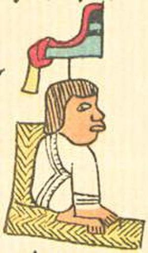 Miahuaxihuitl - Miahuaxihuitl's son Moctezuma I in the Codex Telleriano-Remensis