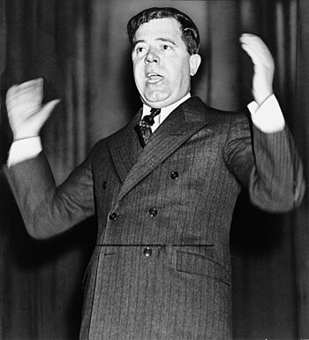 Senator Huey P. Long of Louisiana, half-length...