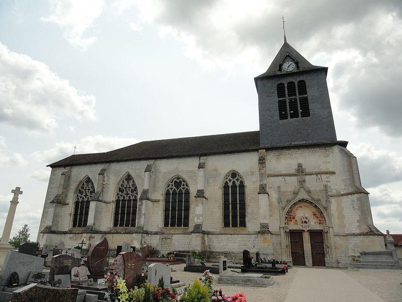 L'église Saint-Martin de Huiron (51).