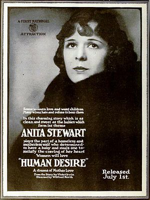 Human Desire (1919 film) - Advertisement from First National