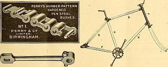 Humber Cycles - Humber frame 1888
