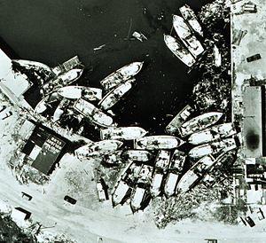 Hurricane Celia - Boats blown ashore by Celia at Aransas Pass