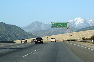 Interstate 605 - Approaching the northern terminus of I-605