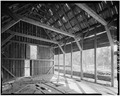 INTERIOR, GENERAL VIEW LOOKING WEST - George Meyer Barn No. 1, Old Coulterville Road, Foresta, Mariposa County, CA HABS CAL,22-FOR.V,1-A-5.tif