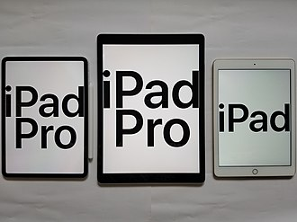 IPad - Current models of iPad and iPad Pro
