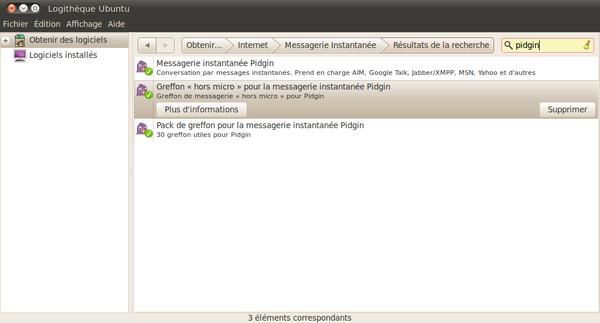 greffon pour ubuntu