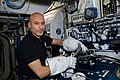 ISS-61 Luca Parmitano tests specialized spacewalking tools in the Harmony module.jpg