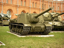 ISU-122 in Saint Petersburgse Artillerie museum