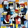 Ibrahim Kodra, The date, 1987 oil on canvas, 80x100 cm.JPG