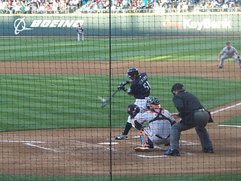 Ichiro Suzuki bottom of the 3rd inning July 6 2009.JPG