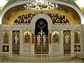 Iconostasis, crypt of Church of Saint Sava, Belgrade.jpg
