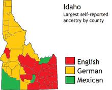 idaho population density map Idaho Wikipedia idaho population density map