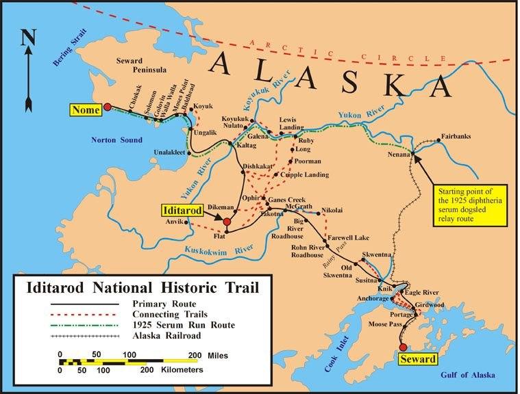Iditarod Trail BLM map