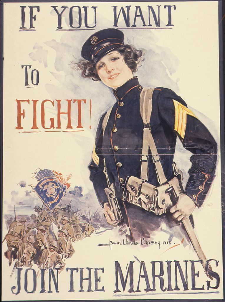 File If You Want To Fight Join The Marines Ca 1917