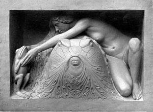 Ignatius Taschner - Detail vom Gustav-Freytag-Brunnen in Breslau