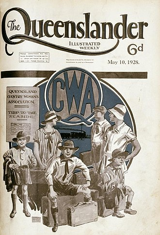 Country Women's Association - Illustrated front cover from The Queenslander, 1928