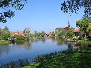 Ilpendam Town in North Holland, Netherlands