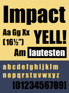 Impact (typeface) - Wikipedia