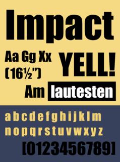 Impact (typeface) Typeface designed by Geoffrey Lee