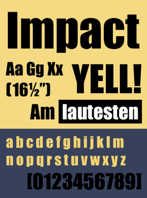 Impact (typeface) - Image: Impact font sample png