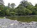 Imperial Palace in Kyoto - pond the in garden of emperor library 7.JPG