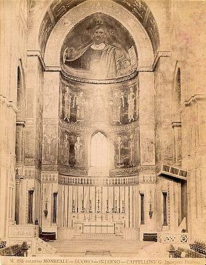 Giuseppe Incorpora - Interior of Monreale Duomo in Palermo.