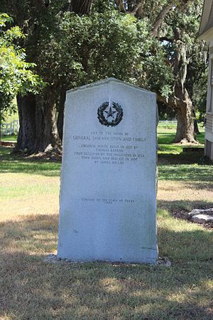 Independence, Texas - Site of Home of General Sam Houston and Family
