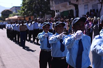 History of the Comoros - Independence parade in Mutsamudu on July 6, 2015.