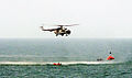 Indian Coast Guard MI 17 Helicopter participating in the SAREX 2014 off the coast of Mumbai.jpg