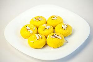 Peda - Image: Indian Sweet Dessert Peda in a white bone china plate