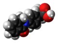 Indoprofen molecule spacefill.png