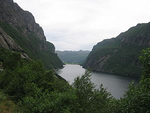 Bjerkreim - View of the lake Indra Vinjavatnet