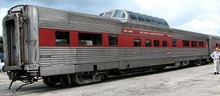 Dome car panoramic coach with en external dome