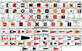 International Alphabet Flags, Phonetic Alphabet, Morse Code and Semaphore Alphabet 1956.png