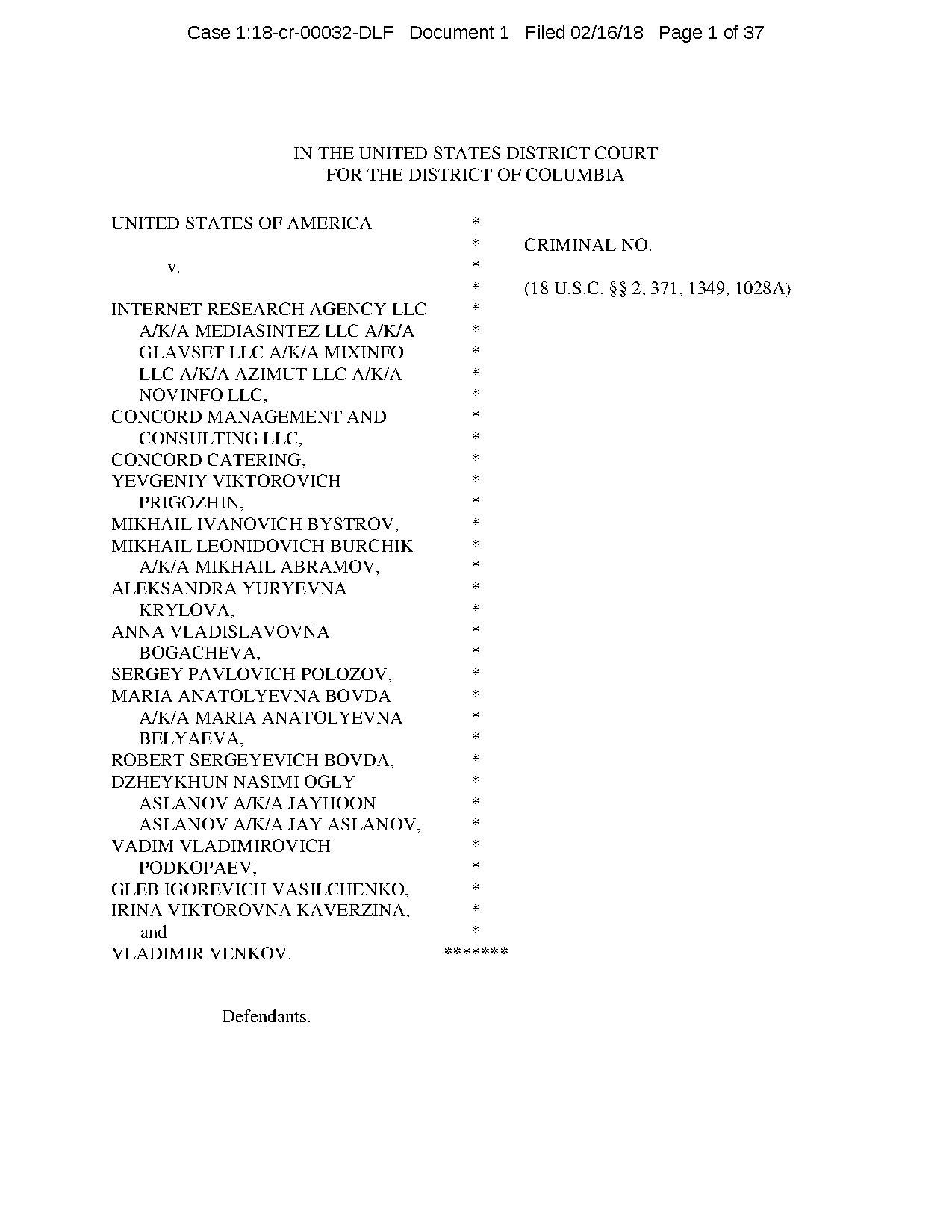 Page:Internet Research Agency Indictment Feb 2018 with text
