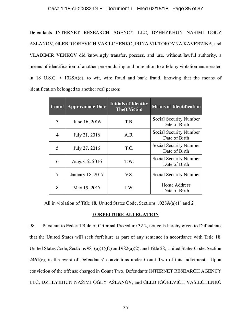Page:Internet Research Agency Indictment Feb 2018 with text.pdf/35 ...
