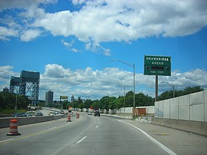 Interstate 280 (New Jersey) - Image: Interstate 280 New Jersey westbound approaching Stickel Bridge