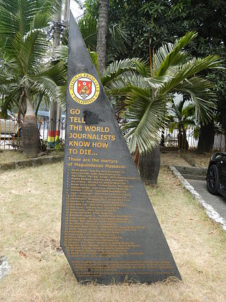 Maguindanao massacre - Monument, National Press Club of the Philippines