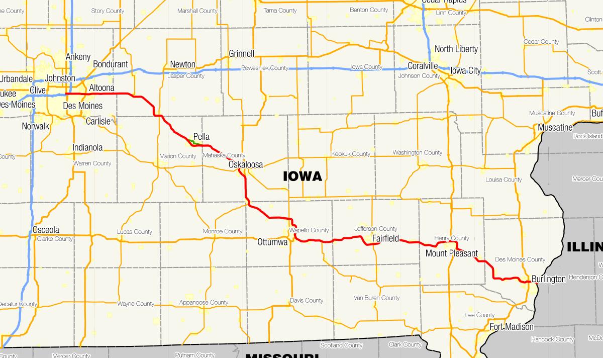 Iowa Highway Wikipedia - Iowa road map