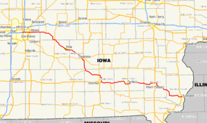 Iowa Highway 163 - Image: Iowa 163 map