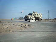 Iraqi MRAP at a checkpoint