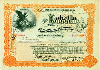 J. J. Hagerman - Share of the Isabella Gold Mining Company, issued 14. May 1898