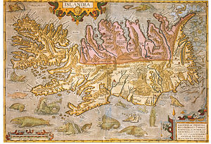 Guðbrandur Þorláksson - One of his most important works: Map of Iceland
