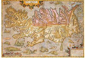 Guðbrandur Þorláksson - Image: Island 1590 Theatrum Orbis Terrarum Ortelius