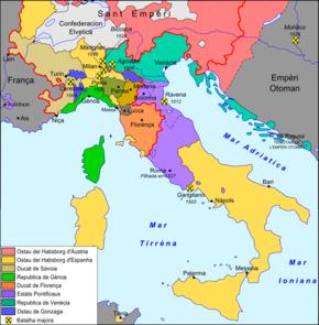 Cartina Italia Nel 500.Guerre D Italia Del Xvi Secolo Wikipedia