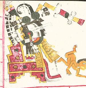 Itztlacoliuhqui - Itztlacoliuhqui in the Codex Borgia