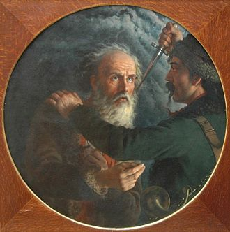 Ivan Susanin - Death of Ivan Susanin, by Mikhail Scotti, 1851.