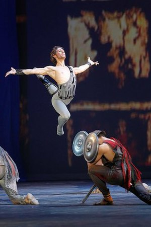Spartacus (ballet) - Ivan Vasiliev in an extract from Spartacus during re-opening gala of the Bolshoi Theatre, 28 October 2011