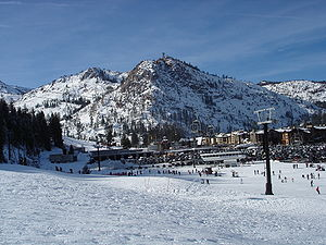 Squaw Valley Ski Resort - Base area in December 2006